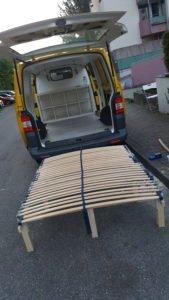 VW Bus Bett Eigenbau