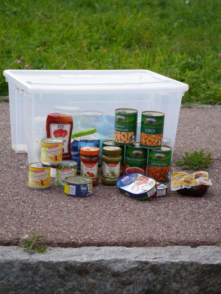 Vanlife Food storage Essen lagern im Camper