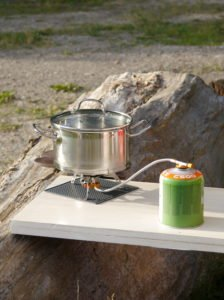 Flexibel drinne und draußen Kochen. Vanlife Cooktop flexibe outdoor and indoor cooking