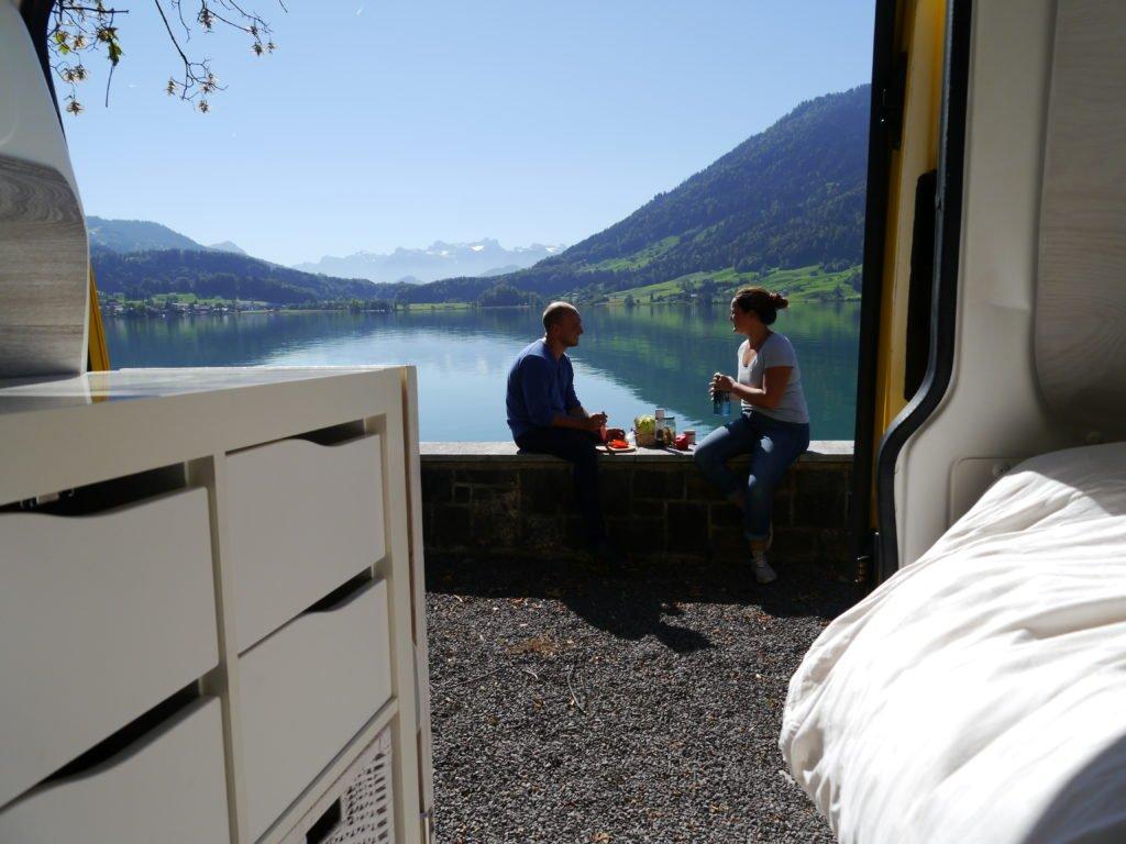 VW T5 Camper Ausbau VW Bus Bett Küchenblock Küchenmodul