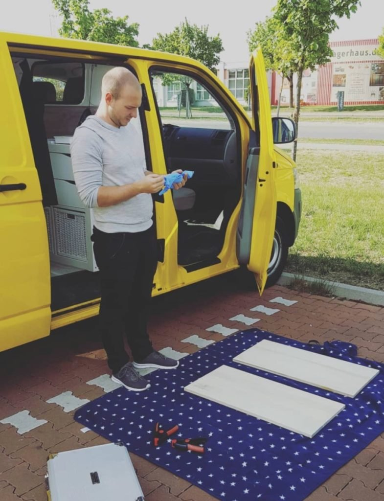 VW T5 Camper Ausbau Tisch Selbstbauen