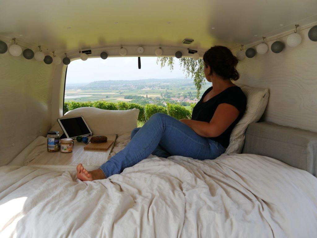 VW Bus Bett
