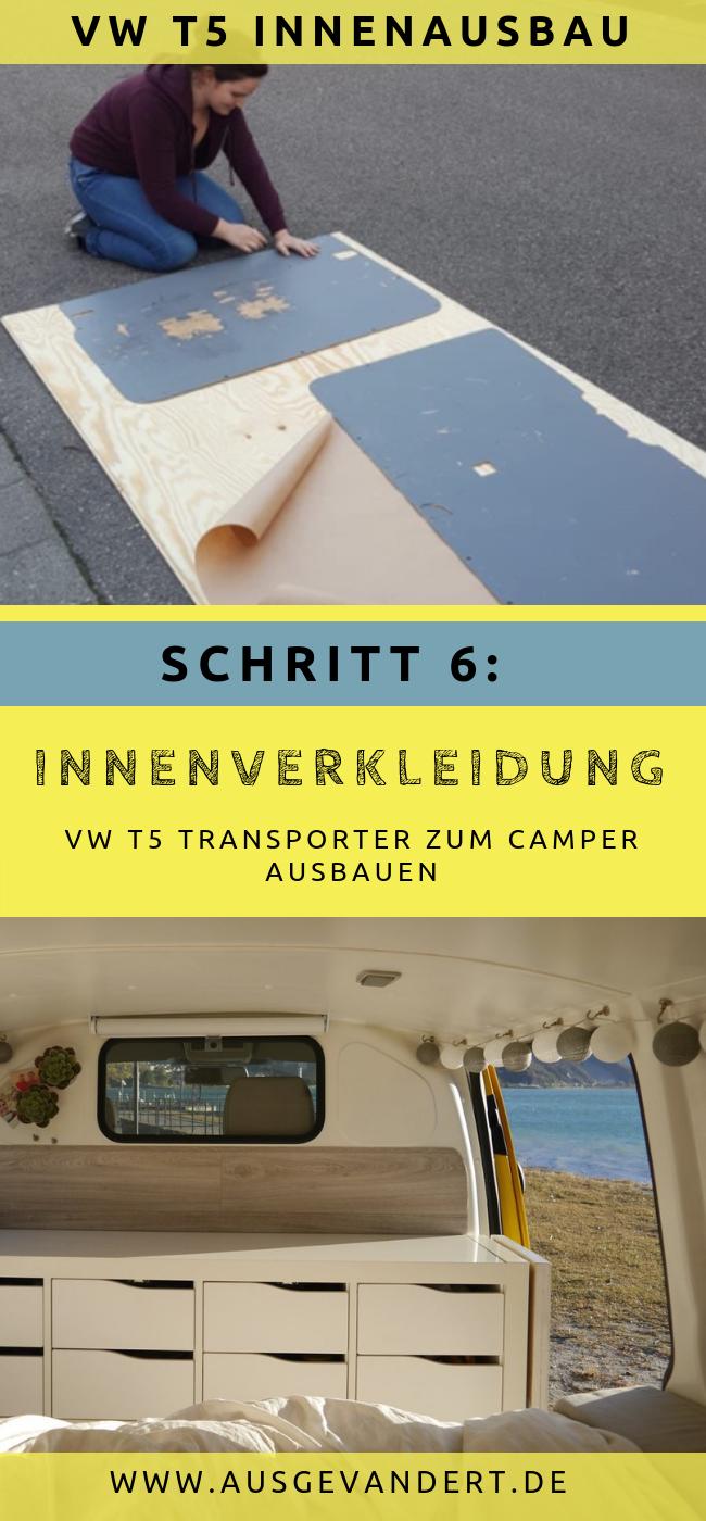 Transporter Innenausbau: T5 Innenverkleidung selber bauen