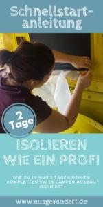 t5 isolieren Anleitung mit Armaflex Transporter isolieren